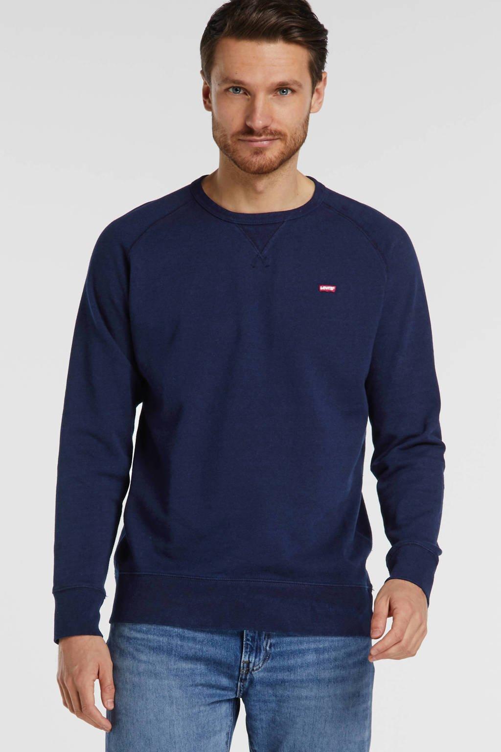 Levi's sweater met logo donkerblauw, Donkerblauw