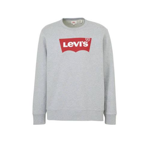 Levi's sweater met logo grijs