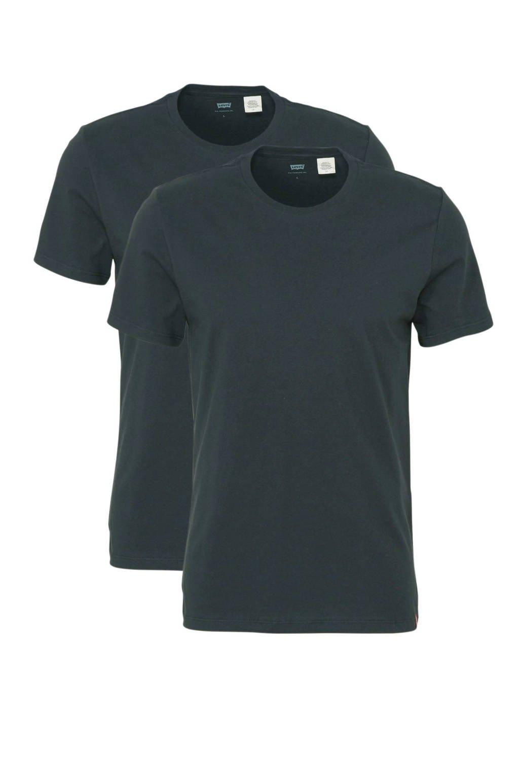 Levi's T-shirt - set van 2, Zwart