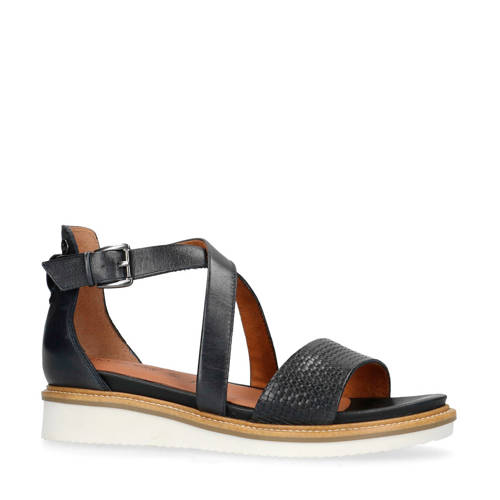 No Stress leren sandalen donkerblauw