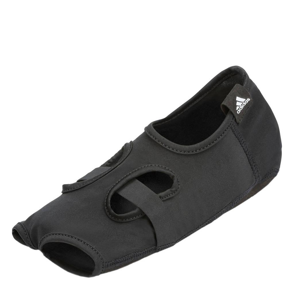 adidas   yoga sokken open toe - maat S/M, Zwart