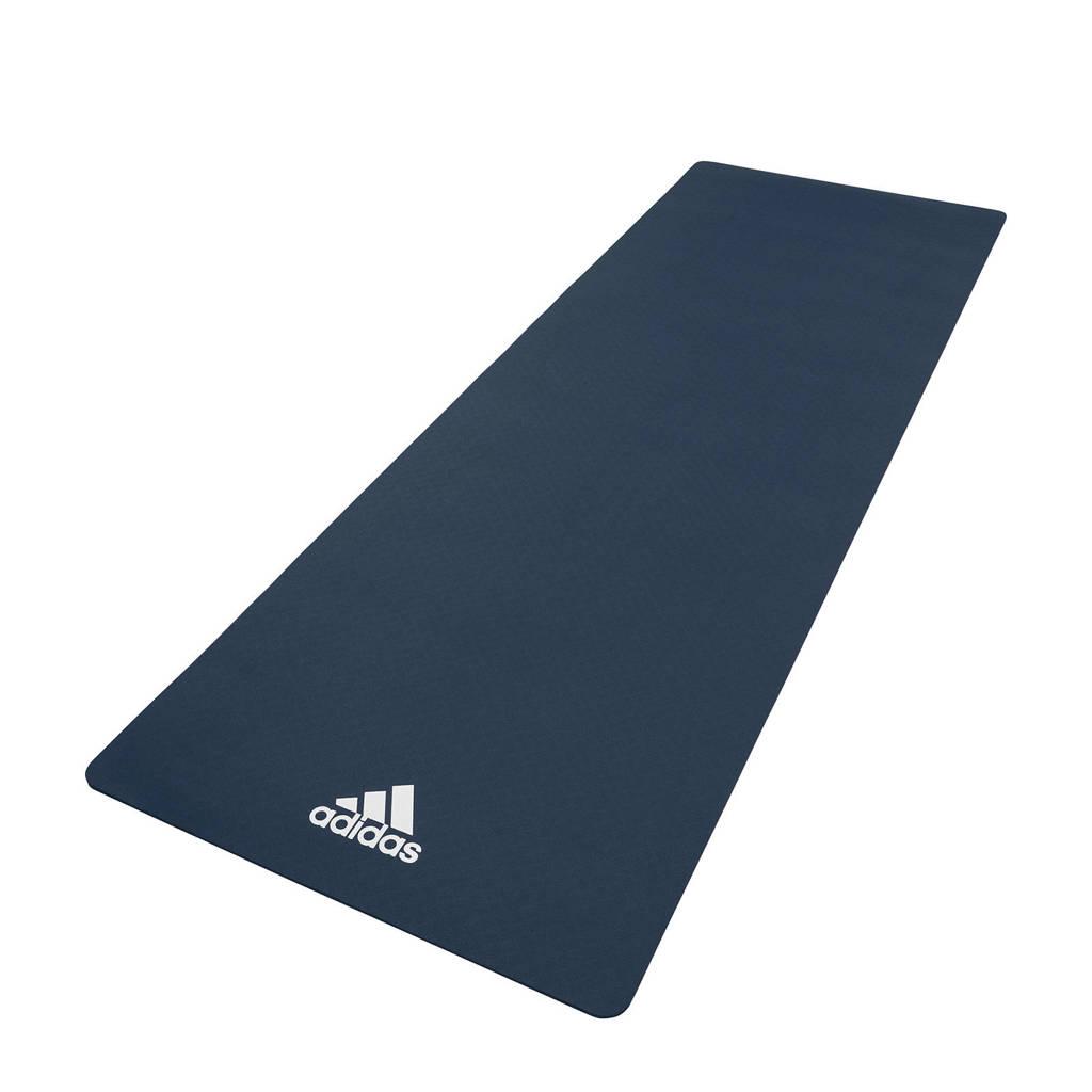 adidas  yogamat / fitnessmat - 8 mm donkerblauw, Donkerblauw