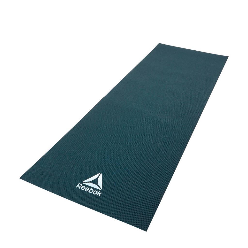 Reebok  yogamat / fitnessmat 4 mm - donkergroen, Donkergroen/Petrol