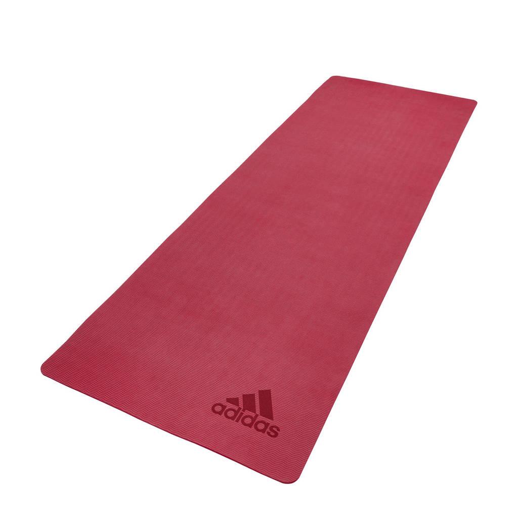 adidas  Mistery Ruby premium yogamat / fitnessmat - 5 mm, Rood
