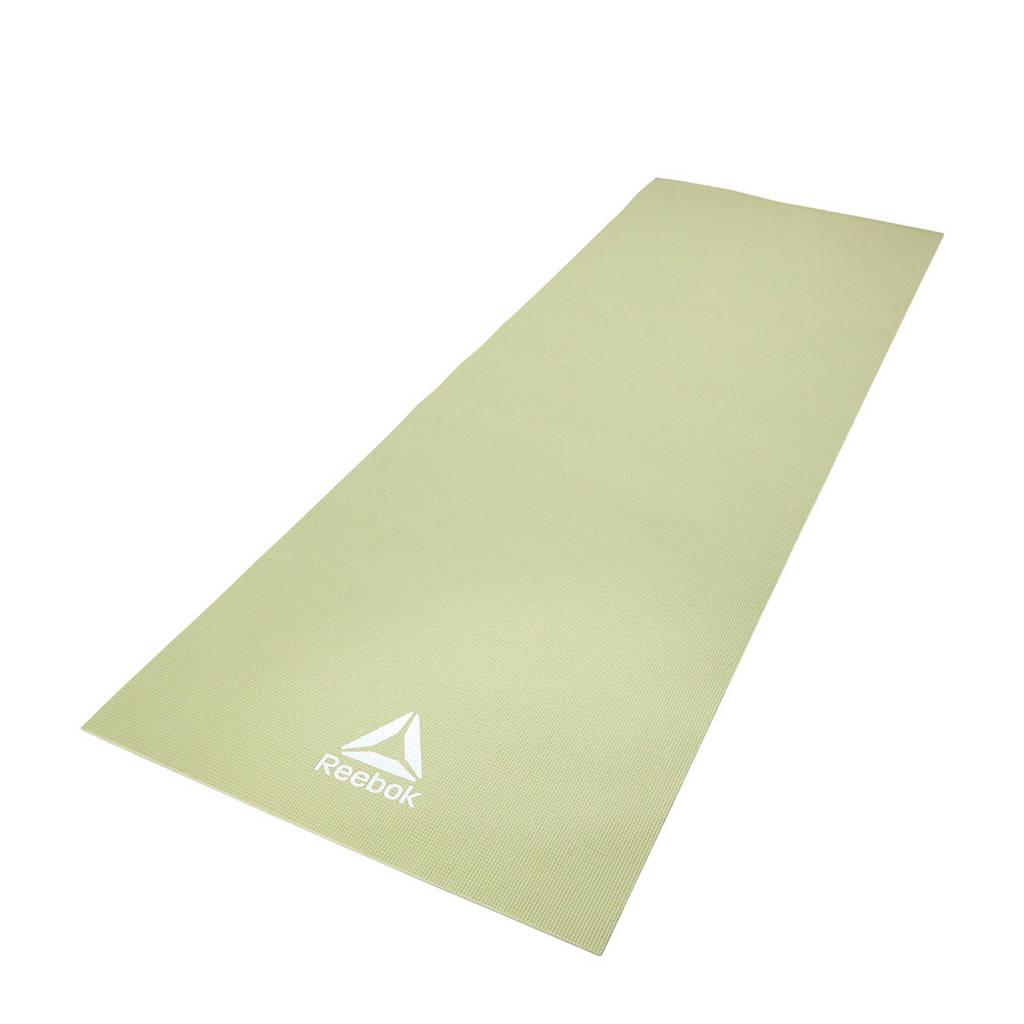 Reebok  yogamat / fitnessmat 4 mm - groen, Groen