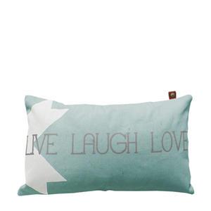 sierkussenhoes Live Laugh Love (30x50 cm)