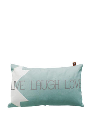 sierkussenhoes Live Laugh Love  (30x50 cm)
