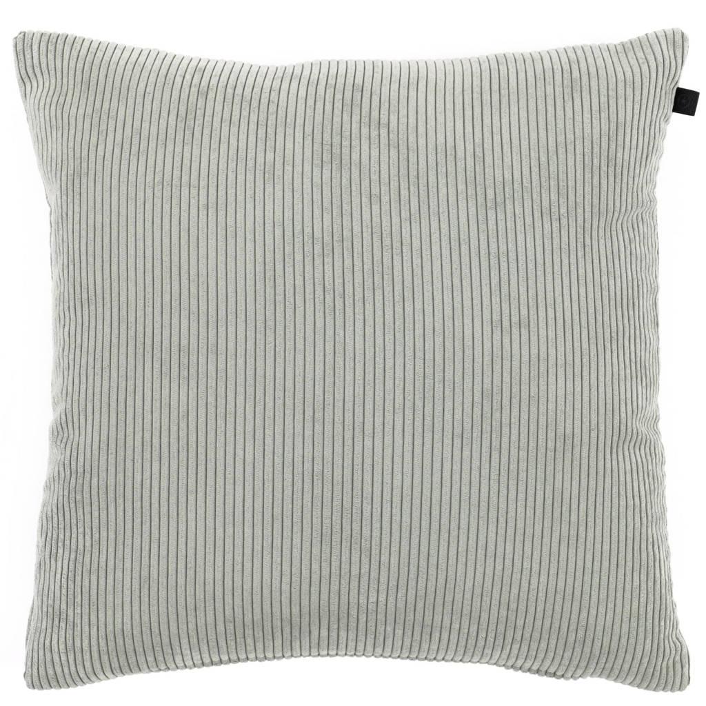 OVERSEAS sierkussenhoes Rib  (45x45 cm), Soft Green