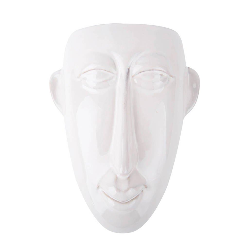 pt, wand bloempot Mask (22,4x7,4 cm), Wit