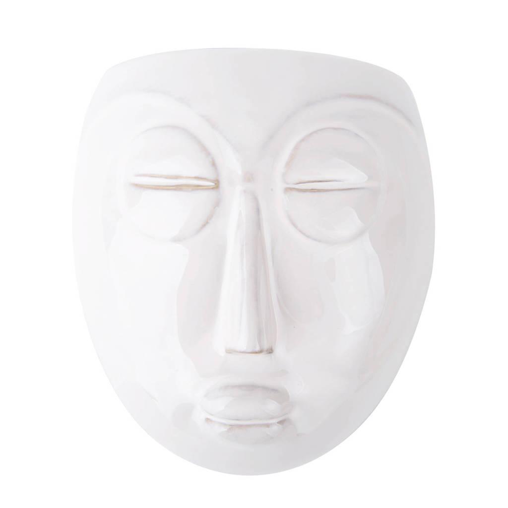 pt, wand bloempot Mask, Wit, 17,5