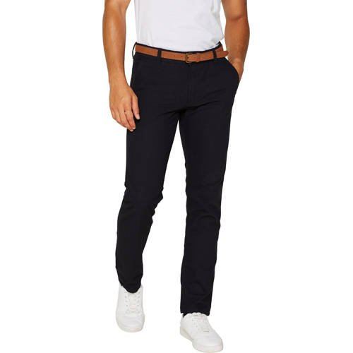 ESPRIT Men Casual slim fit chino donkerblauw