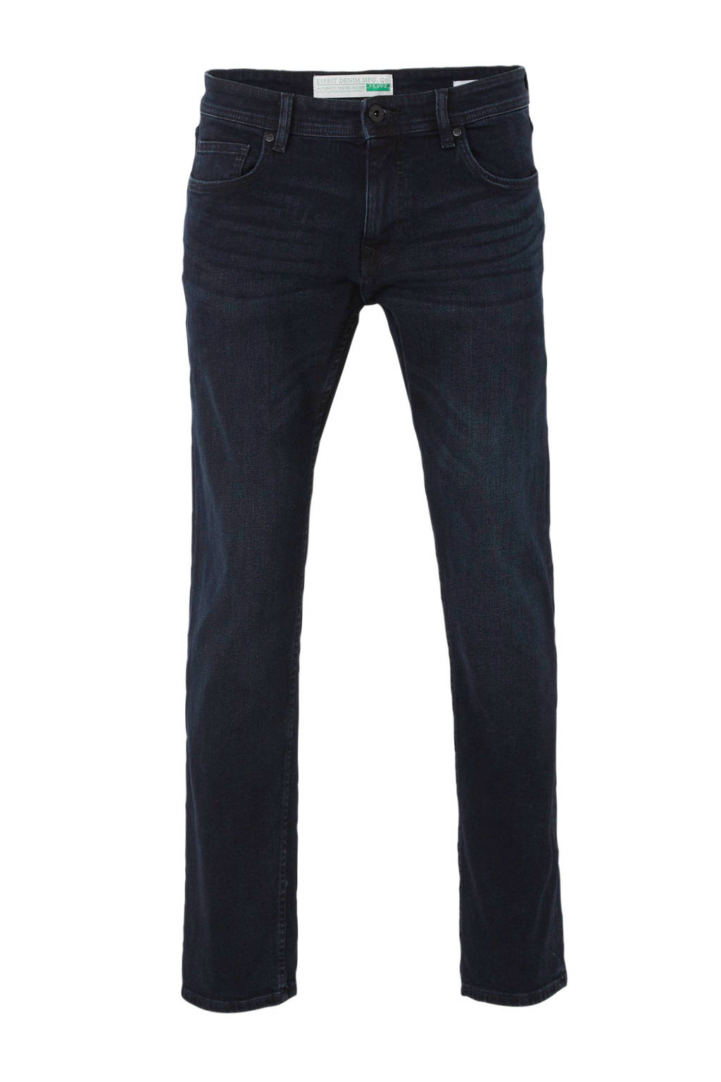 ESPRIT Men Casual straight fit jeans donkerblauw, Donkerblauw