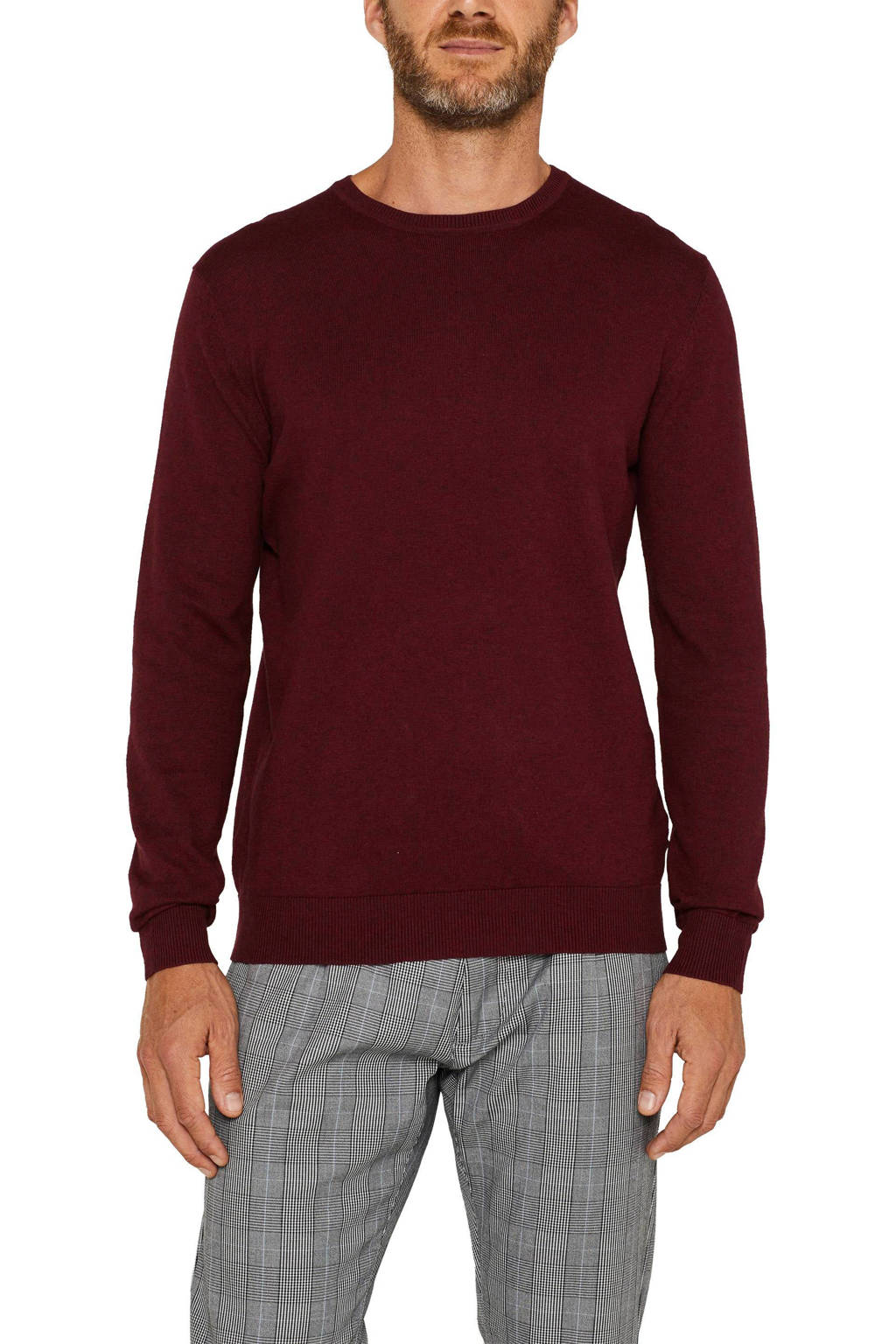 ESPRIT Men Casual trui donkerrood, Donkerrood