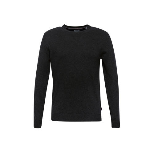 ESPRIT Men Casual gem??leerde trui antraciet