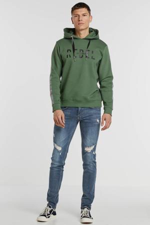 hoodie met printopdruk groen