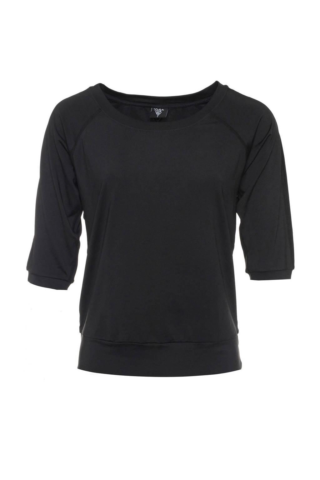 Scapino Osaga sport T-shirt zwart, Zwart