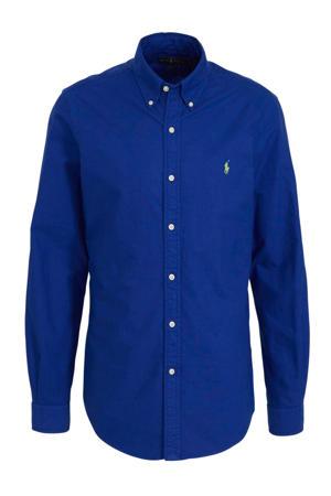 slim fit overhemd blauw