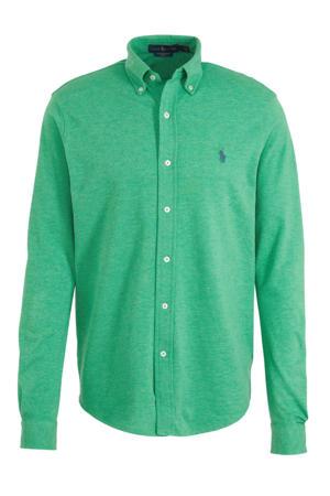 regular fit overhemd met logo groen
