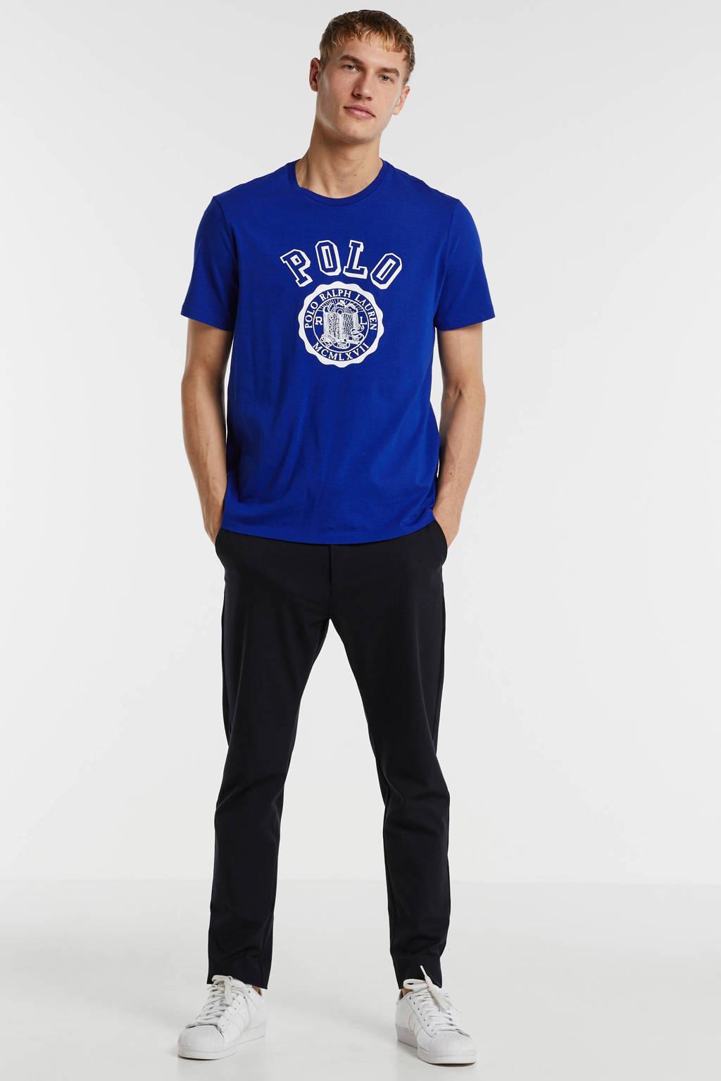 POLO Ralph Lauren T-shirt met printopdruk kobaltblauw, Kobaltblauw