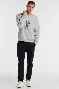 POLO Ralph Lauren sweater met printopdruk grijs/blauw, Grijs/blauw