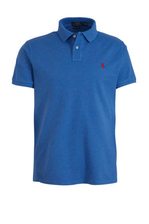 regular fit polo met logo lichtblauw