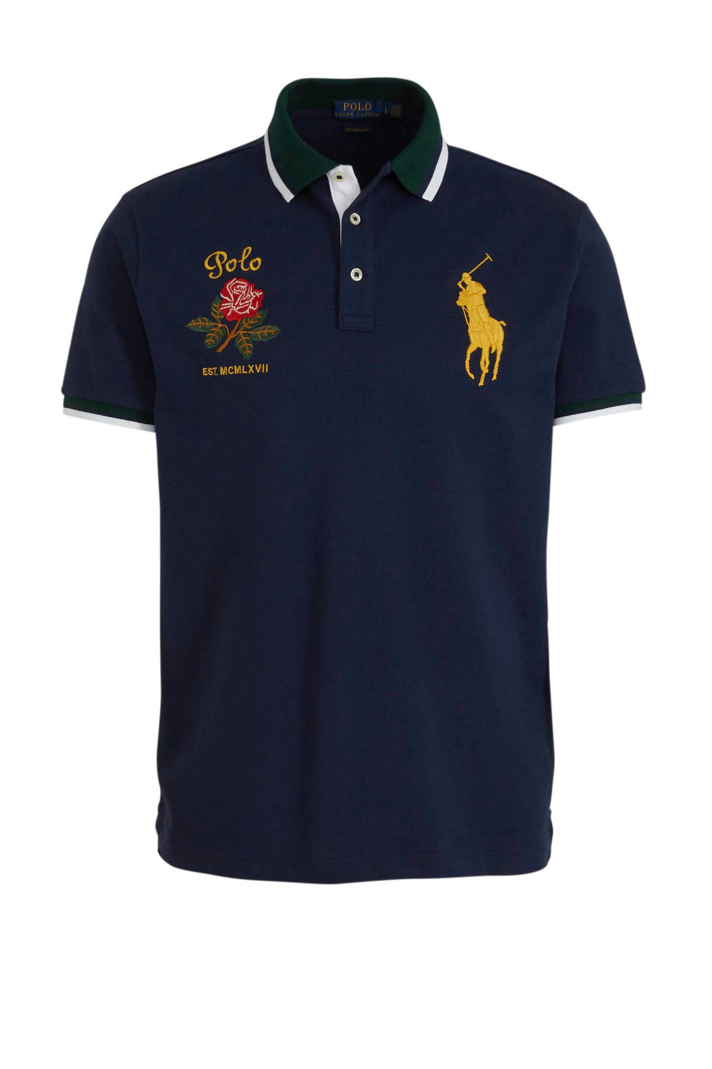 POLO Ralph Lauren slim fit polo met logo marine, Marine
