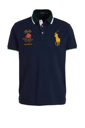 slim fit polo met logo marine