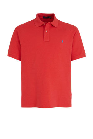 +size regular fit polo rood