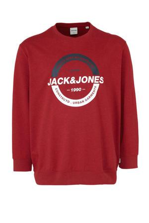 sweater met printopdruk rood