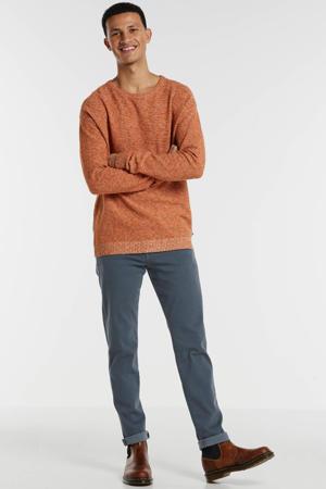 gemêleerde trui oranje