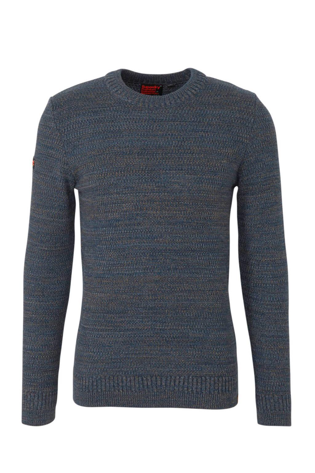 Superdry gemêleerde trui blauw, Blauw