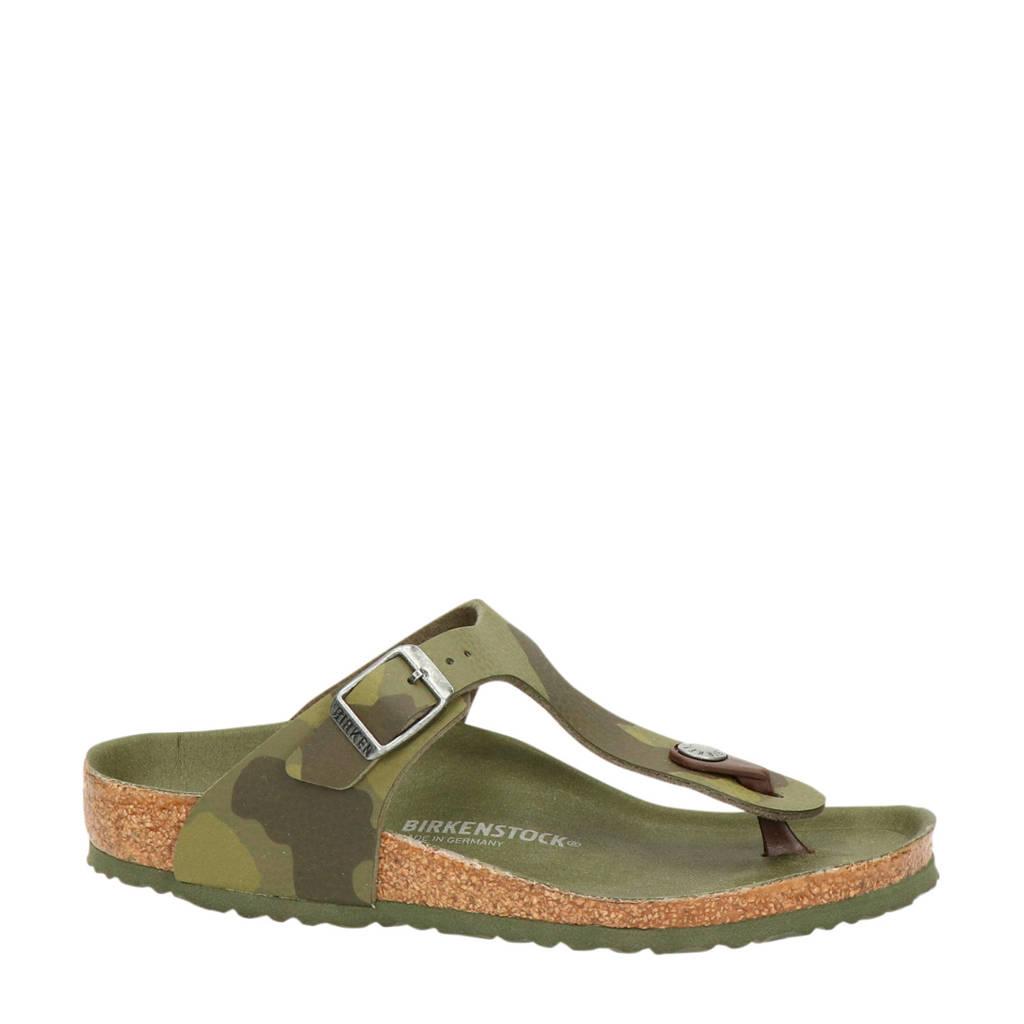 Birkenstock Gizeh  slippers camouflage, Groen/Kaki