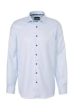 Westbury slim fit overhemd met all over print lichtblauw