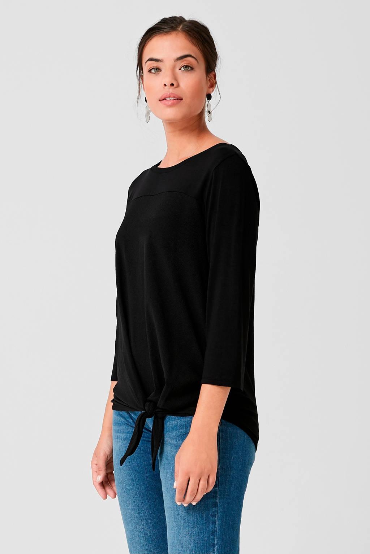 TRIANGLE T-shirt zwart, Zwart
