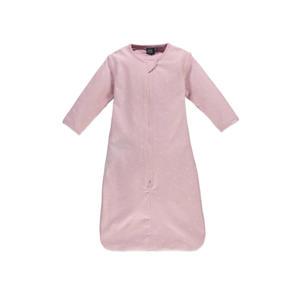 baby slaapzak met afritsbare mouwen roze