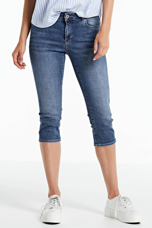 anytime jeans-capri stonewashed blauw, Stonewashed blauw