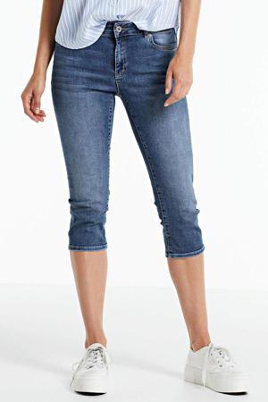 jeans-capri stonewashed blauw