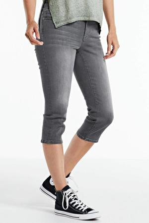 jeans-capri stonewashed grijs