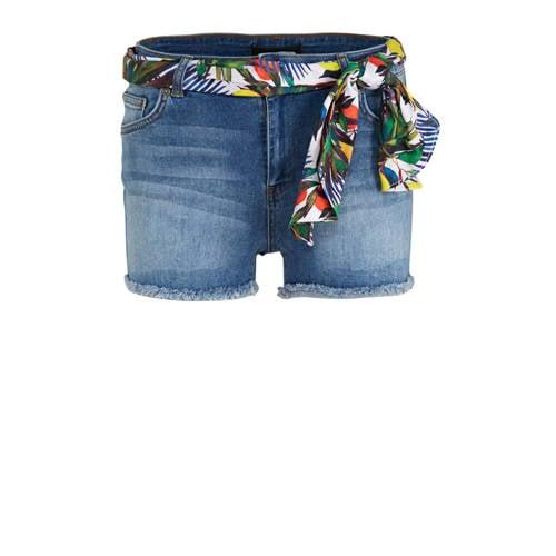 anytime jeans-shorts met sjaaltje stonewashed blau