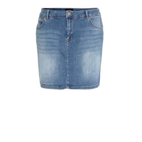 anytime spijkerrok Plus size met zijnaadbies blauw