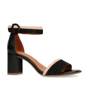 leren sandalettes zwart