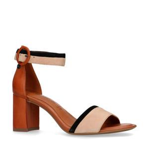 leren sandalettes bruin