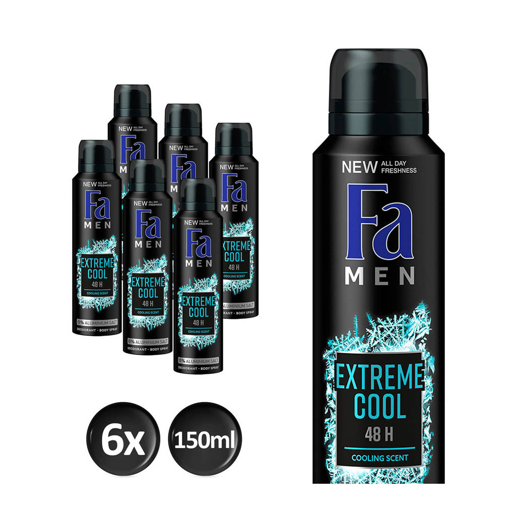 FA Men Deospray Extreme Cool - 6x 150ml multiverpakking