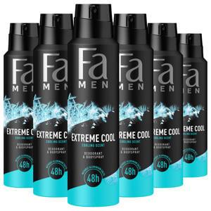 Men Deospray Extreme Cool - 6x 150ml multiverpakking
