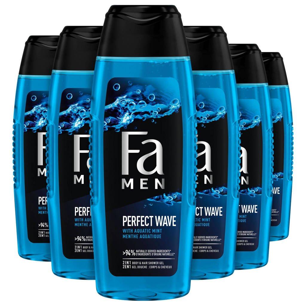 FA Men Perfect Wave douchegel - 6x 250ml multiverpakking