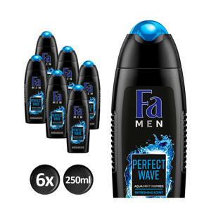 Men Perfect Wave douchegel - 6x 250ml multiverpakking