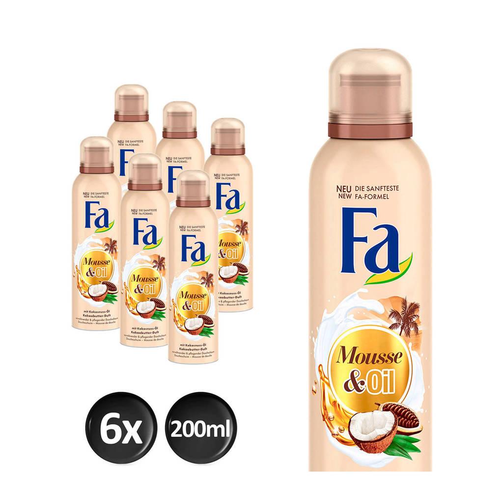 FA Foam Cream&Oil Cacoa douchegel - 6x 200ml multiverpakking