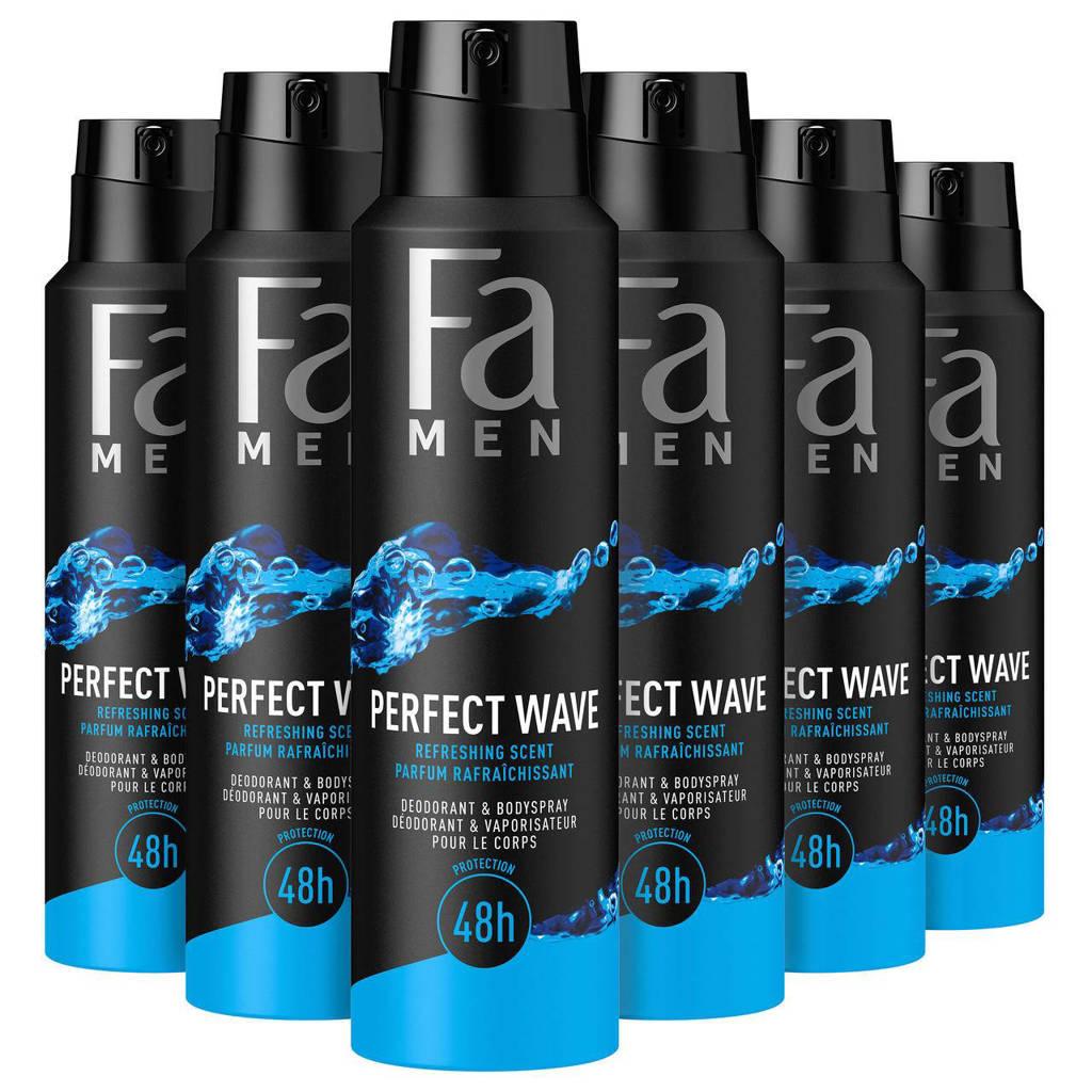 FA Men Deospray Perfect Wave - 6x 150ml multiverpakking