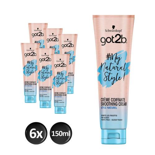 Schwarzkopf Got2b MyNaturalStyle Control Cream - 6