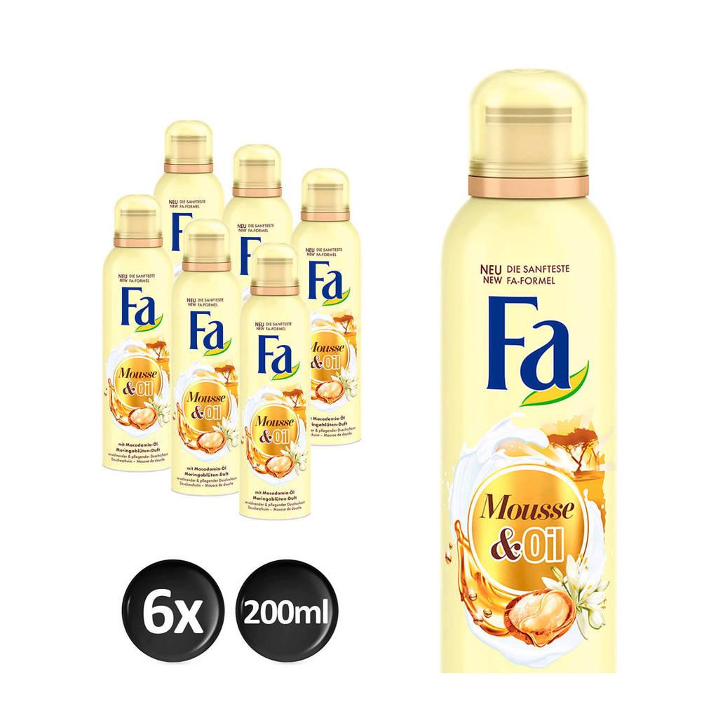 FA Foam Cream&Oil Moringa douchegel - 6x 200ml multiverpakking